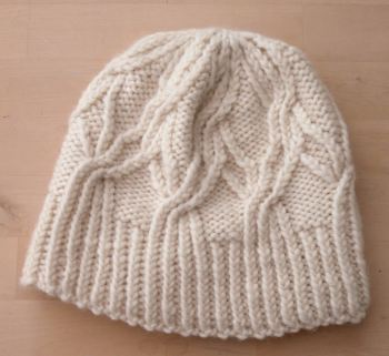 Natural Cream Cable hat