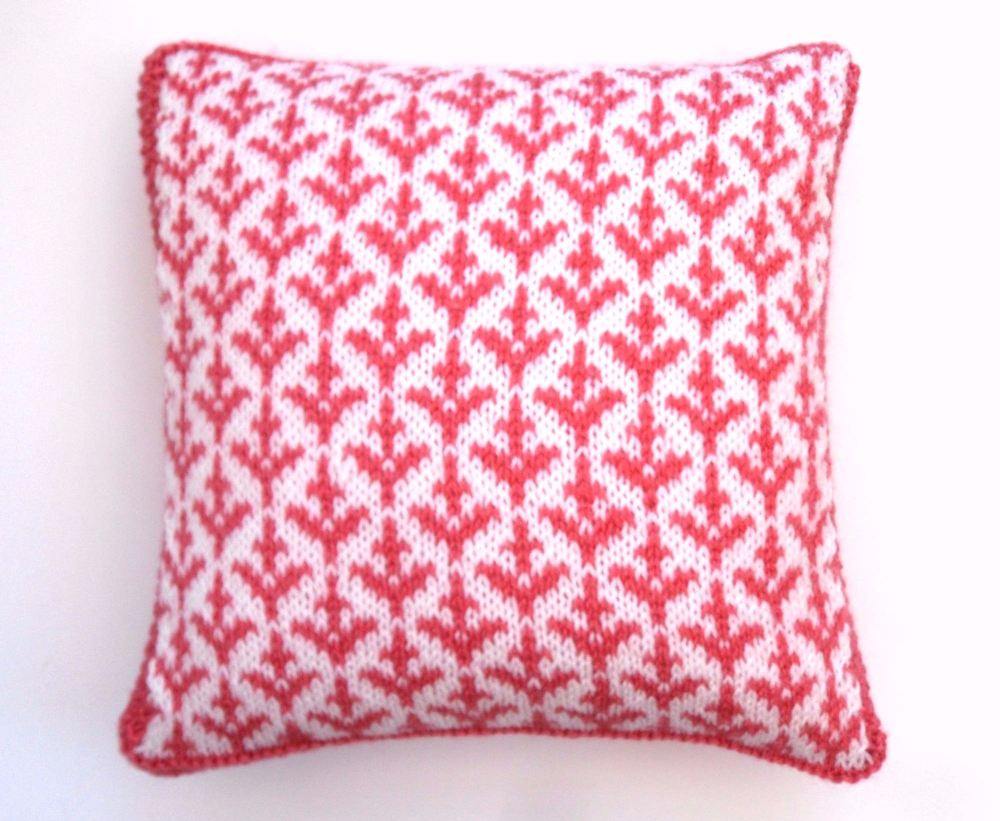 Fair Isle cushion  with valentine cupid arrows