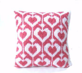 "Valentine heart cushion 12"" x 12"""