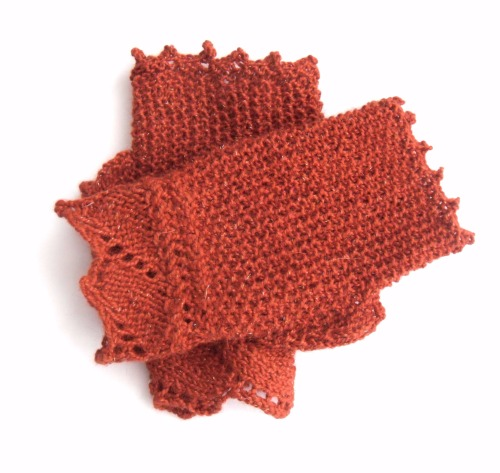 Autumn Russet fingerless gloves