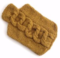 Knitting Pattern for hot water bottle cover