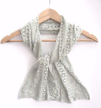 Silk Crescent shaped shawl