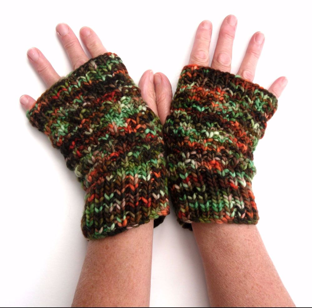Autumn multicoloured  fingerless gloves