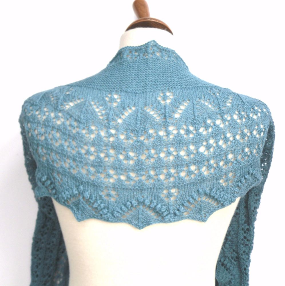 Knitting Pattern for crescent shaped lace shawl