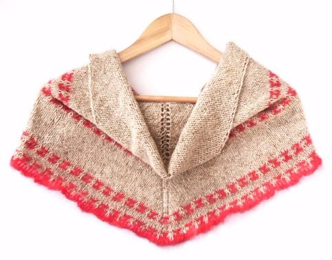 Tweedy Mosaic Shawl Knitting Pattern