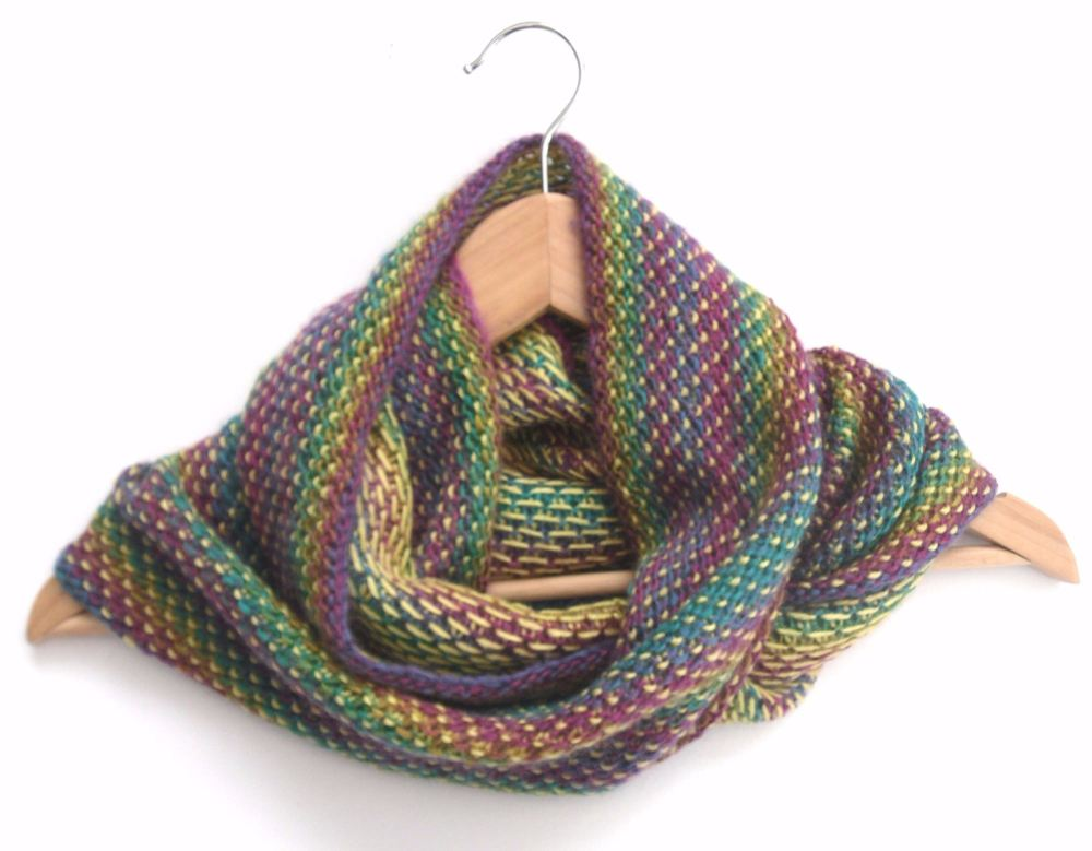 Colourful infinity scarf