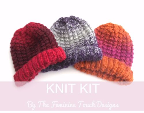 Cable Hat Knitting Kit