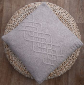 "Taupe Lambswool Cushion Cover 16"" x 16"""