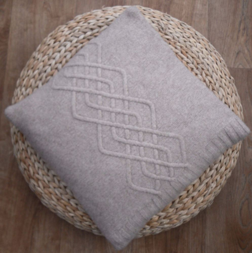 Taupe Lambswool Cushion Cover 16
