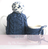 Knitting Kit for plaited kitchen cosies , half price