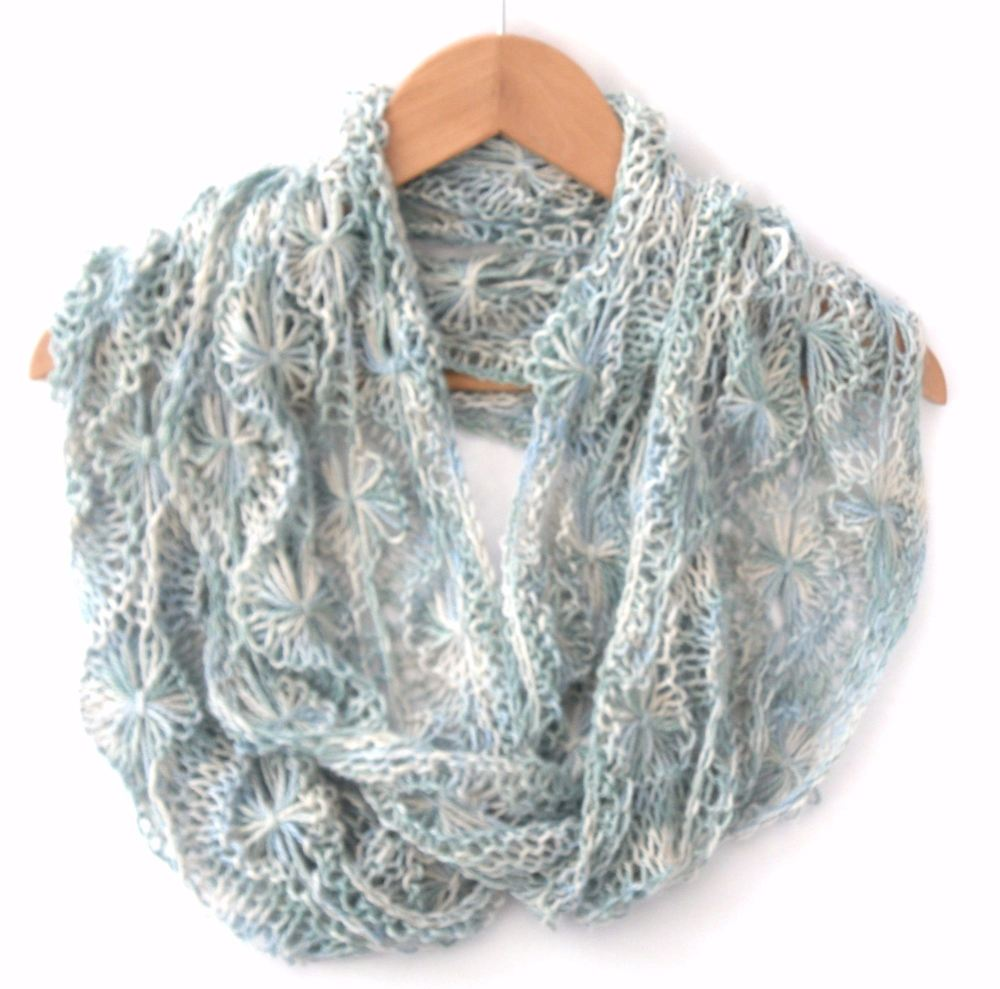 Brrr Chill Flowery Infinity Scarf