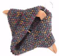 Unisex Snood , moss stitch cowl