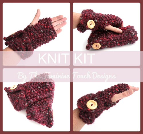 Super Chunky Gloves Knitting Kit