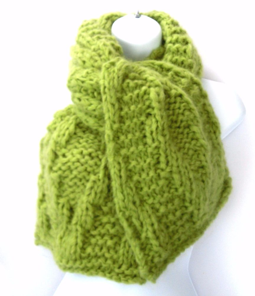 Lime green Alpaca Scarf