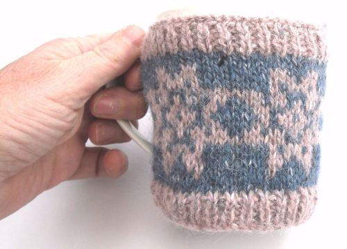 Pink Star Flower Mug Cosy