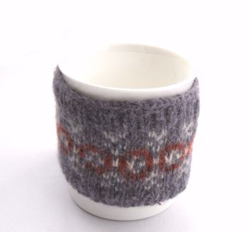 Purple Fair isle Mug cozy