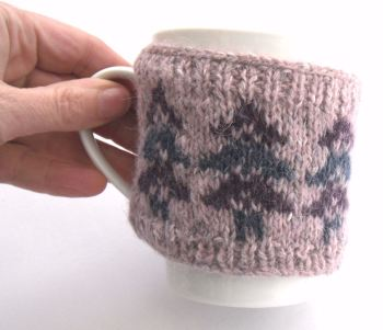 Purple trees mug warmer