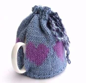 Blue hearts Tea Pot cosy