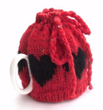 Red hearts Tea Pot cosy
