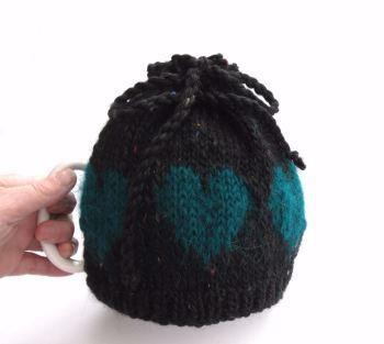 Black hearts Tea Pot cosy