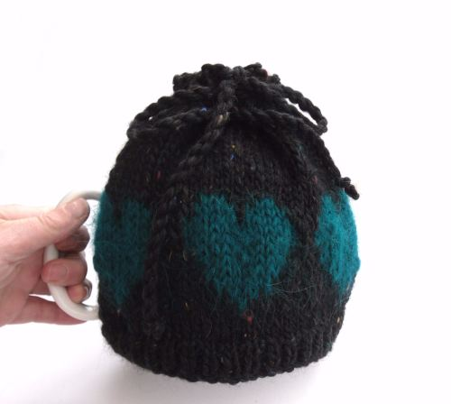 Black hearts Tea Pot cosy