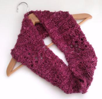 Pink Banana Silk Cowl   SALE