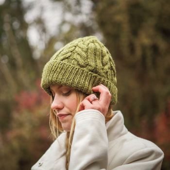 Knitting Pattern for Chunky Wool Cable hat