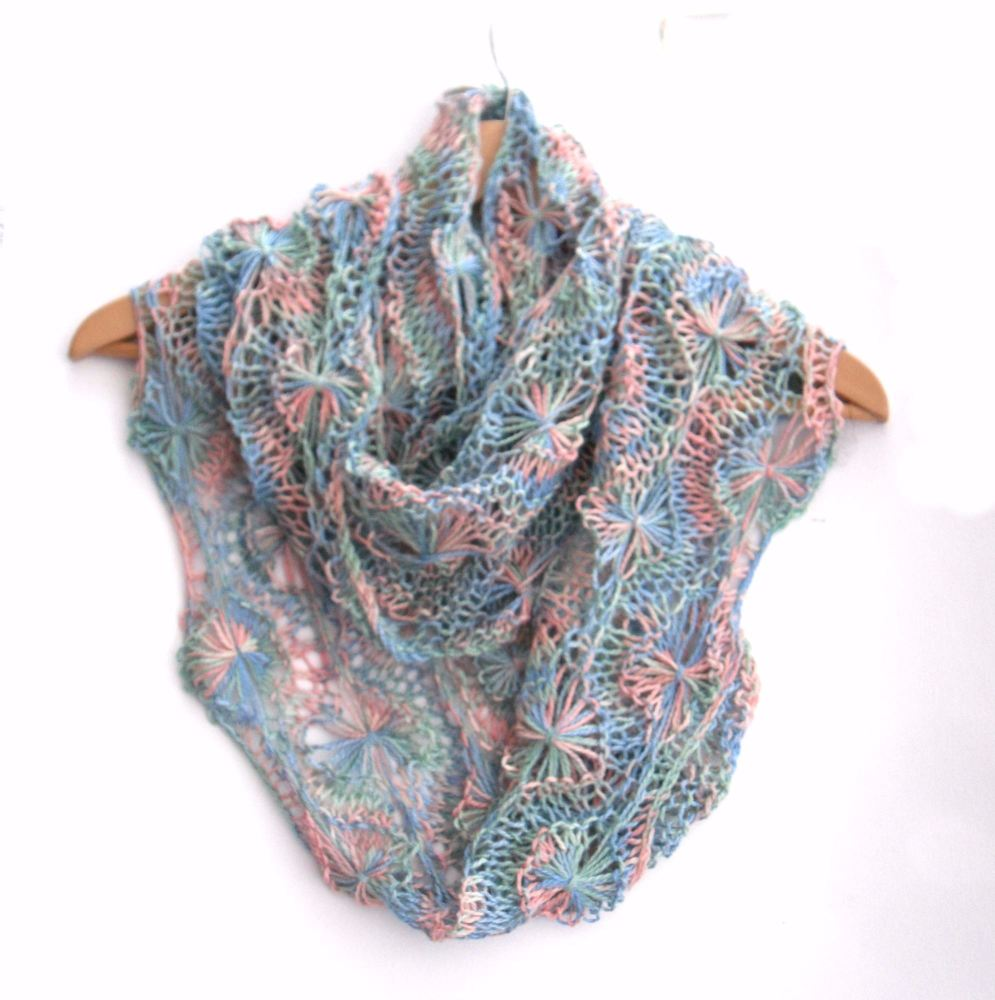 Years Gone By Flowery Infinity Scarf