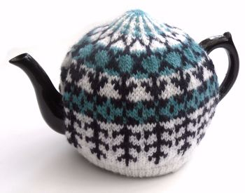 White / Purple / Turquoise Tea Cosy
