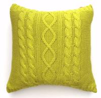 Lime Green Cotton Cushion