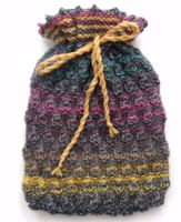 Multi coloured Hot water bottle cover