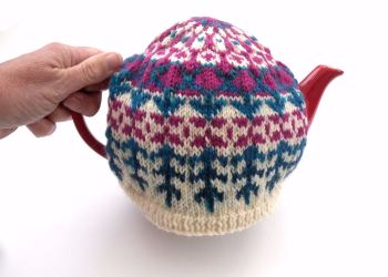 Pink / Turquoise Tea Cosy