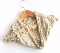 Cream cotton cowl