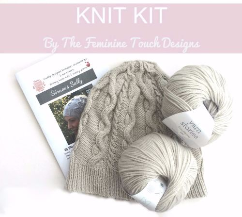 Cabled Hat Knitting Kit