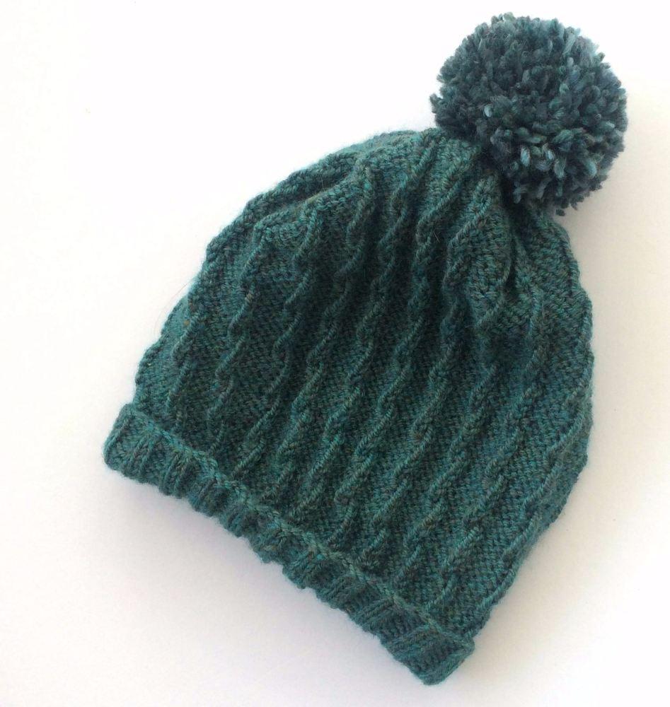 Ladies Slouchy Beanie hat with pom pom