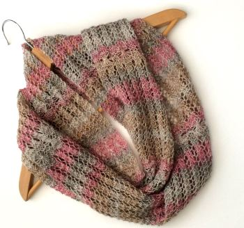Pastel Striped lace infinity scarf