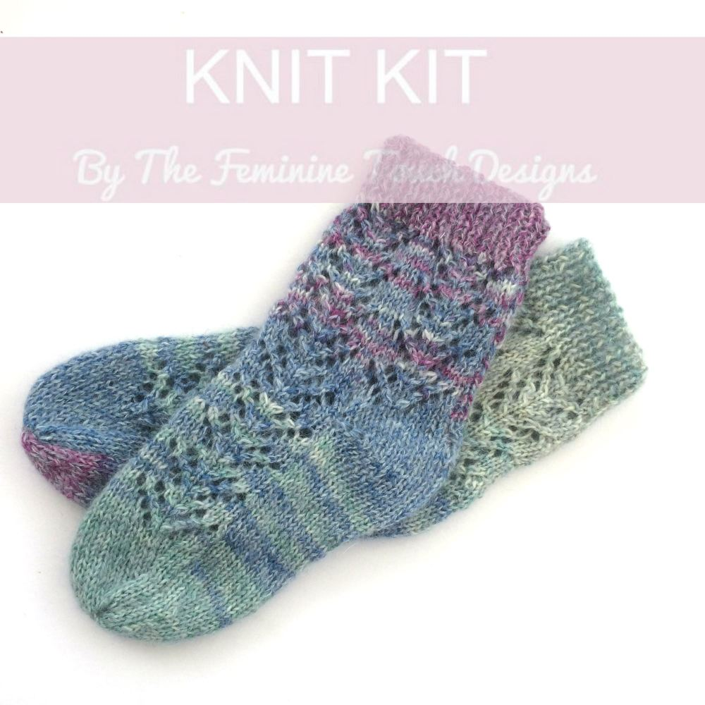 Lace Bed Socks Knitting kit