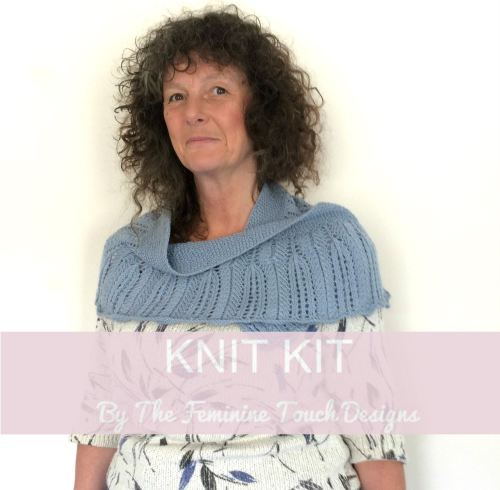 Lace Shawlette / Scarf Knitting Kit