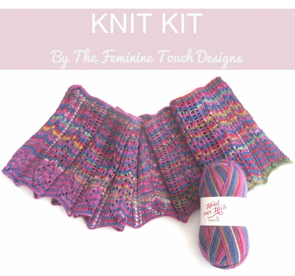 Lace Shawlette knitting kit