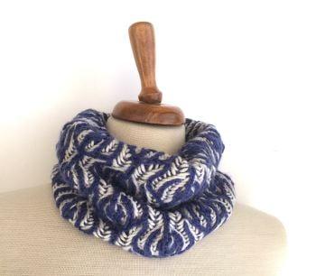 Floral reversible wool cowl