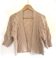 Wedding Lace Bolero Style hand knit Jacket in baby alpaca