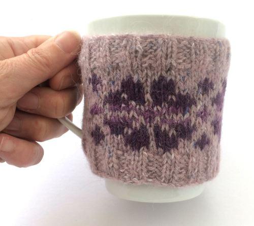 Pink flower mug hug