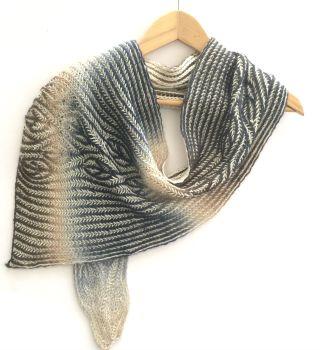 Poison Ivy Brioche scarf knitting pattern