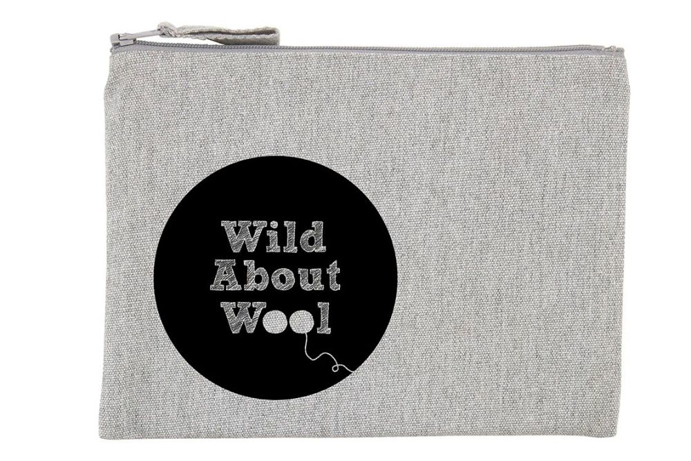 Small zipped Wild About Wool Project Bag