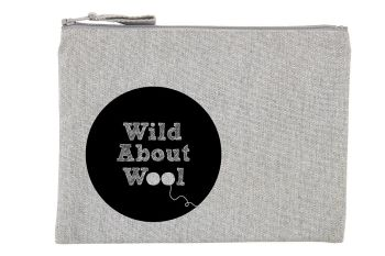 Small zipped Wild About Wool Project Bag  - 2 colour choice