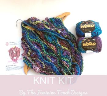 Flowery Cowl Knitting Kit - ONLY PINK CHOICE AVAILABLE