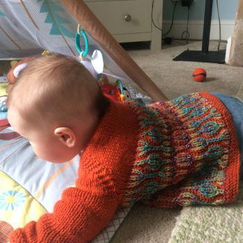 Lollipop, Babies knitting pattern