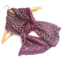Herringbone reversible Brioche scarf