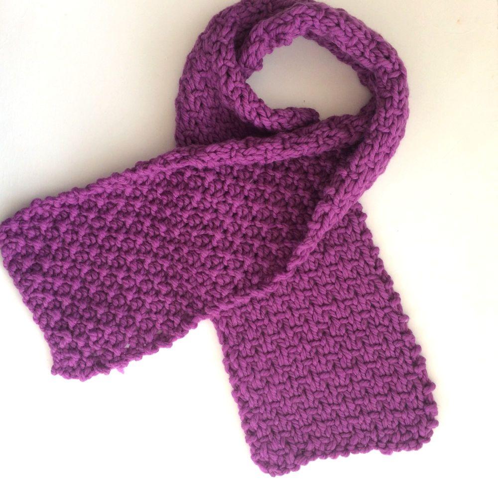 Pink Wool Scarf 100% wool    SALE