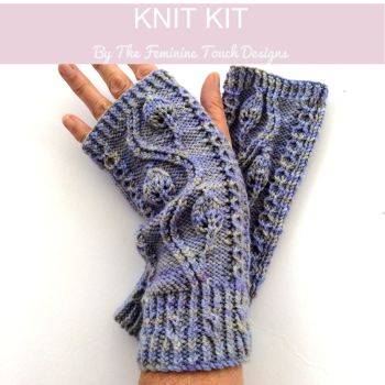 Pinnate Cable Gloves Knitting Kit